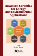 Advanced Ceramics for Energy and Environmental Applications Book
