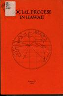 Social Process in Hawaii