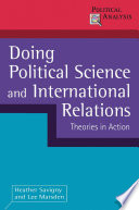 Doing Political Science and International Relations