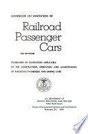 Handbook On Sanitation Of Railroad Passenger Cars