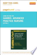 Advanced Practice Nursing Pageburst on Kno Retail Access Code