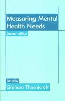 Measuring Mental Health Needs