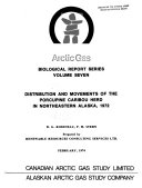 Distribution and Movements of the Porcupine Caribou Herd in Northeastern Alaska  1972