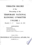 Verbatim Record of the Proceedings