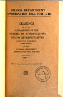 Interior Department Appropriation Bill for 1948