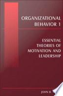 Organizational Behavior I