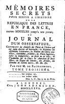 Mémoires secrets pour servir à l'histoire de la république des lettres en France