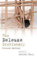 Pdf Deleuze Dictionary Revised Edition