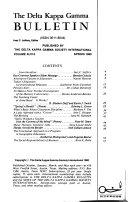 The Delta Kappa Gamma Bulletin Book PDF