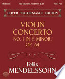 Violin concerto in E minor, op. 64