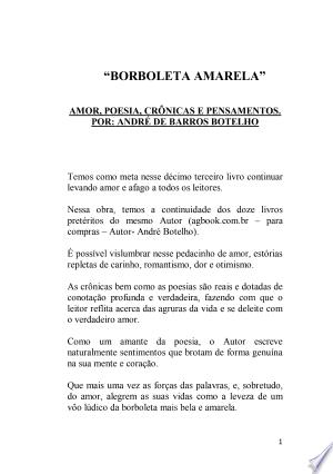 """Download """"Borboleta Amarela"""" Free Books - Read Books"""