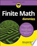 Finite Math For Dummies Book