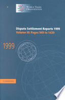 Dispute Settlement Reports 1999: Volume 3, Pages 949-1439