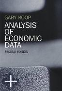 Cover of Analysis of economic data