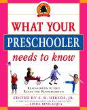 What Your Preschooler Needs to Know Pdf/ePub eBook