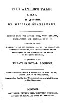 Collection of Plays from Cumberland's British Theatre: The winter's tale