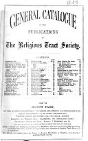 General Catalogue of the Publications of The Religious Tract Society