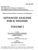 Proceedings of the 19th Annual Fall Technical Conference of the ASME Internal Combustion Engine Division  Advanced analysis for IC engines