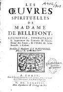 Les oeuvres spirituelles de Mme ...