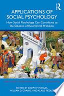 Applications of Social Psychology