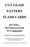 CUT GLASS PATTERN FLASH CARDS Set Nine