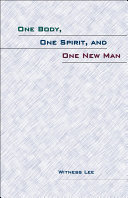 One Body  One Spirit  and One New Man