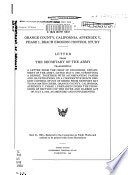 Orange County  California  Appendix V  Phase I  Beach Erosion Control Study Book PDF