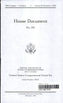 United States Congressional Serial Set, Serial 14910, House Document No. 241, Jefferson's Manual and Rules of the House of Representatives, 109th Congress