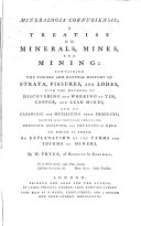 Mineralogia Cornubiensis  a Treatise on Minerals  Mines and Mining