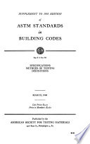 ASTM Standards in building codes