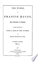 The Works of Francis Bacon  Lord Chancellor of England Book
