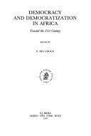 Democracy and Democratization in Africa