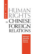Human Rights in Chinese Foreign Relations Pdf/ePub eBook