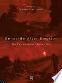 Genocide after Emotion Book