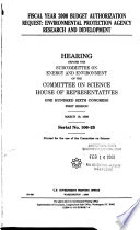 Fiscal Year 2000 Budget Authorization Request