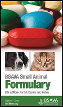 BSAVA Small Animal Formulary  Part A Book
