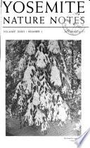 Yosemite Nature Notes Book