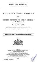 Mineral Statistics of the United Kingdom of Great Britain   Ireland