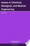 Issues In Chemical Biological And Medical Engineering 2011 Edition Book PDF