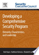 Developing a Comprehensive Security Program Book