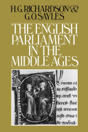 English Parliament in the Middle Ages