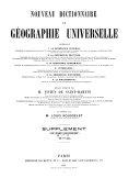 Nouveau dictionnaire de géographie universelle contenant