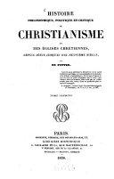 Histoire philosophique, politique et critique du christianisme et des églises chrétiennes