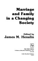 Marriage and Family in a Changing Society