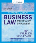 Business Law and the Legal Environment  Standard Edition Book
