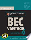 Cambridge BEC. Self-study Pack. Student's Book with Answers and Audio CD. Vantage 4