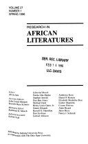 Research in African Literatures Book PDF