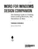 Word For Windows Design Companion