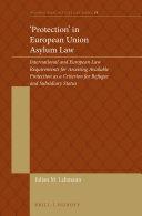 Protection    in European Union Asylum Law