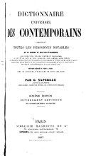 Dictionnaire universel des contemporains contenant toutes les personnes notables de la France et des pays étrangers ...